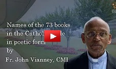 Names of 73 books in the Catholic Bible in poetic form -Fr John Vianney, CMI
